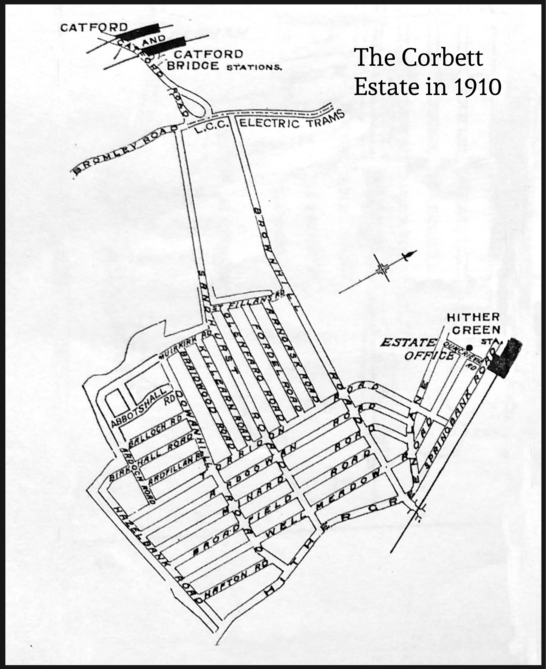 The 1911 Census on the Corbett Estate: please click a street